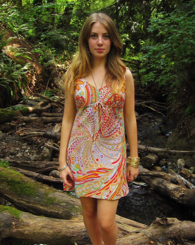 Psychedelic Hippie Mini Dress