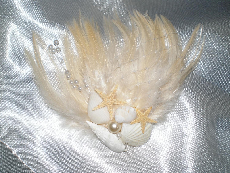 Items similar to hair fascinator natural seashells and for Seashells for hair