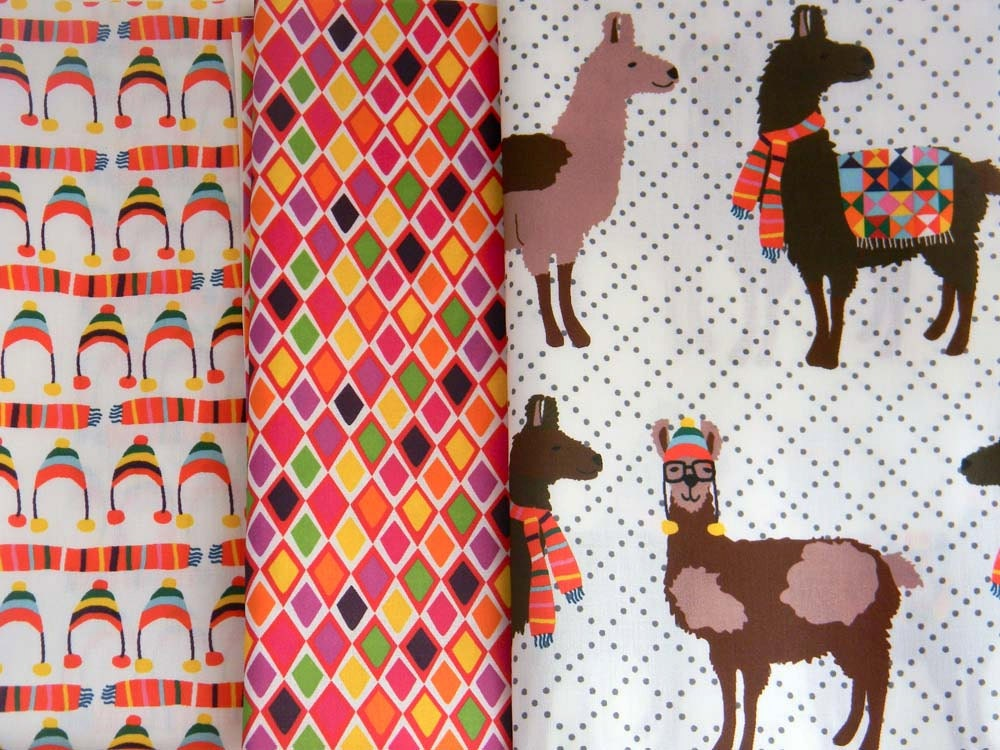 Llook Llamas - Half Yard SET
