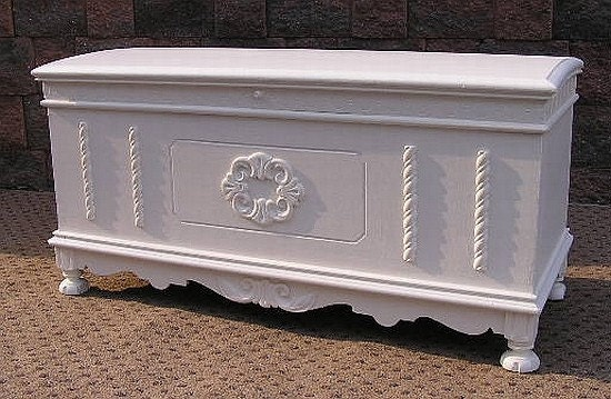 Shabby COTTAGE cHiC BLANKET Toy CHEST Trunk Furniture