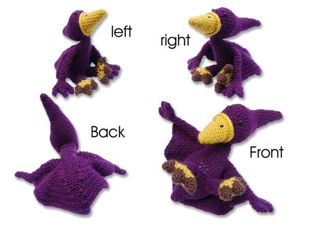 Handmade Crochet Pterodactyl