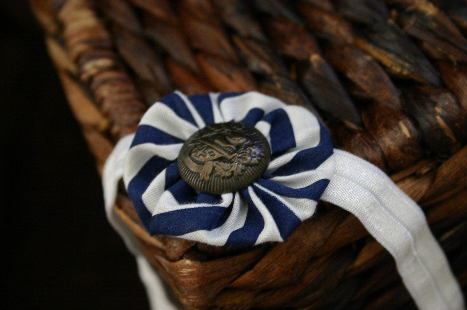 NAUTICAL THEME yoyo headband...can be made in ANY size NEWBORN-ADULT