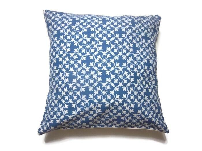 Decorative Denim Pillows : Decorative Pillow Cover Denim Blue White by LynnesThisandThat