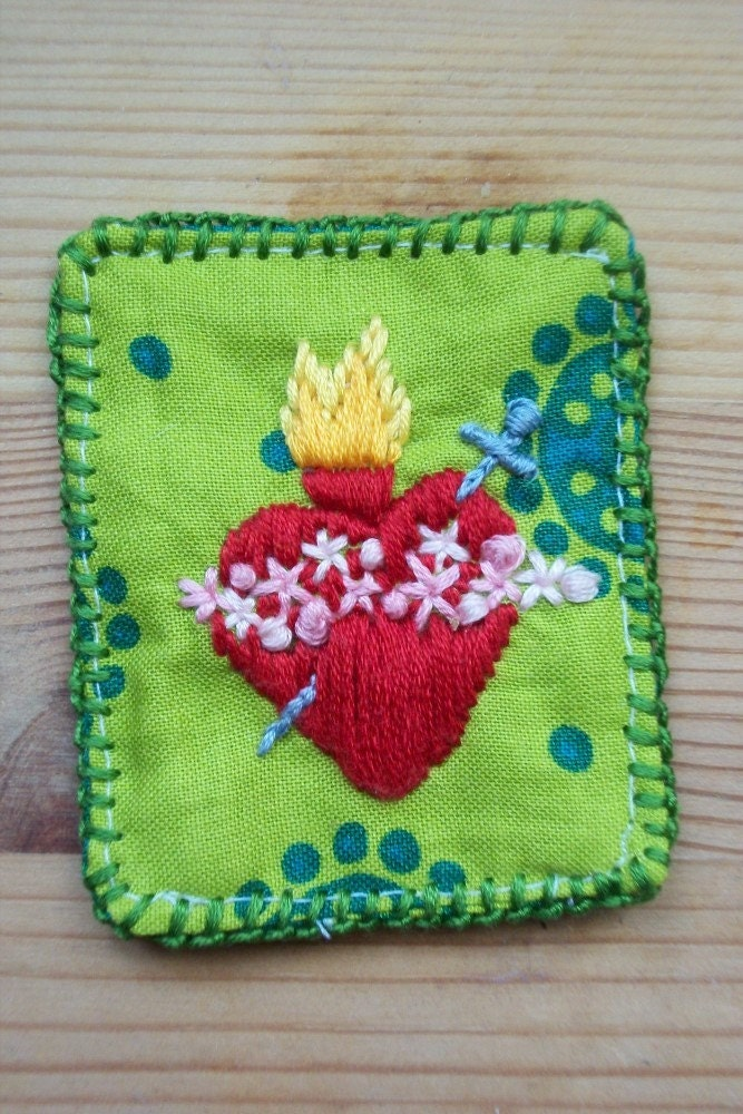 Immaculate Heart of Mary Embroidered Patch