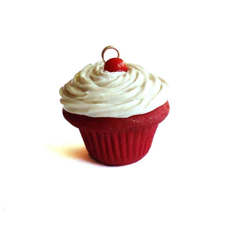 Classic Red Velvet Cupcake Charm - FatallyFeminine