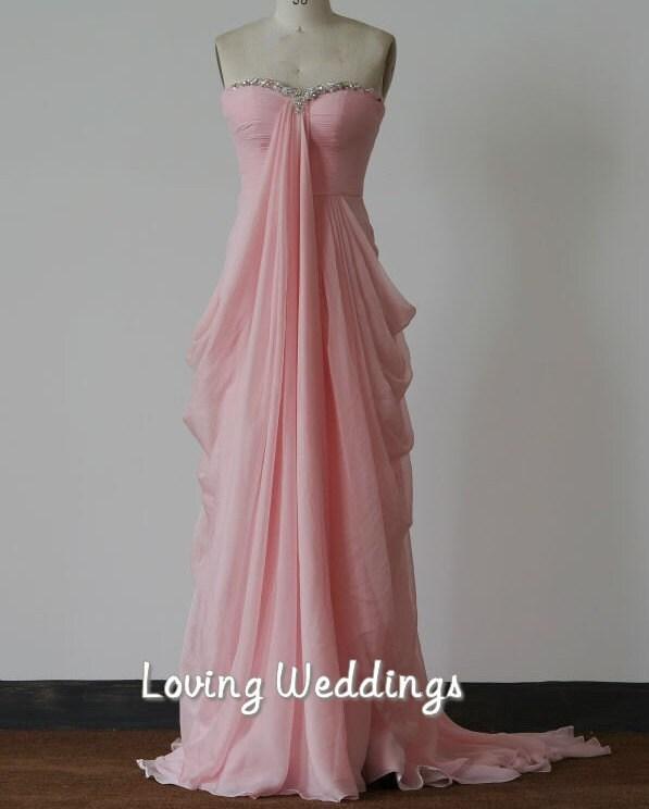 ... Beaded Evening Dress Floor Length Ruffles Dress Chiffon Prom Dress