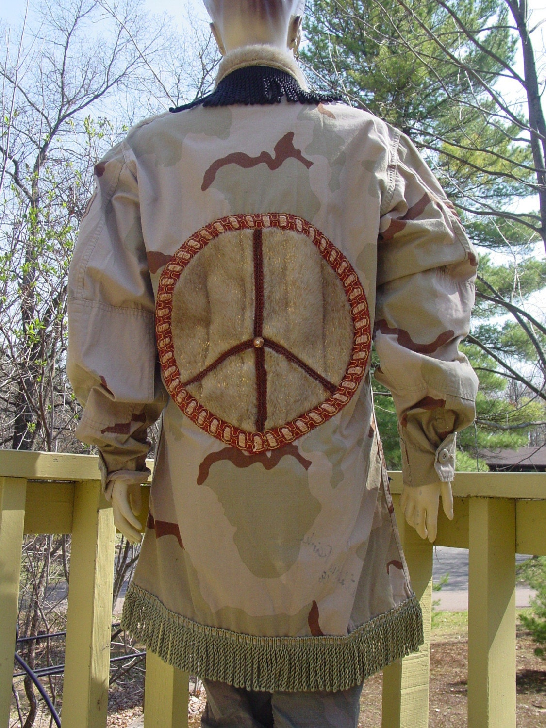Altered desert storm  US Air Force Military jacket OOAK