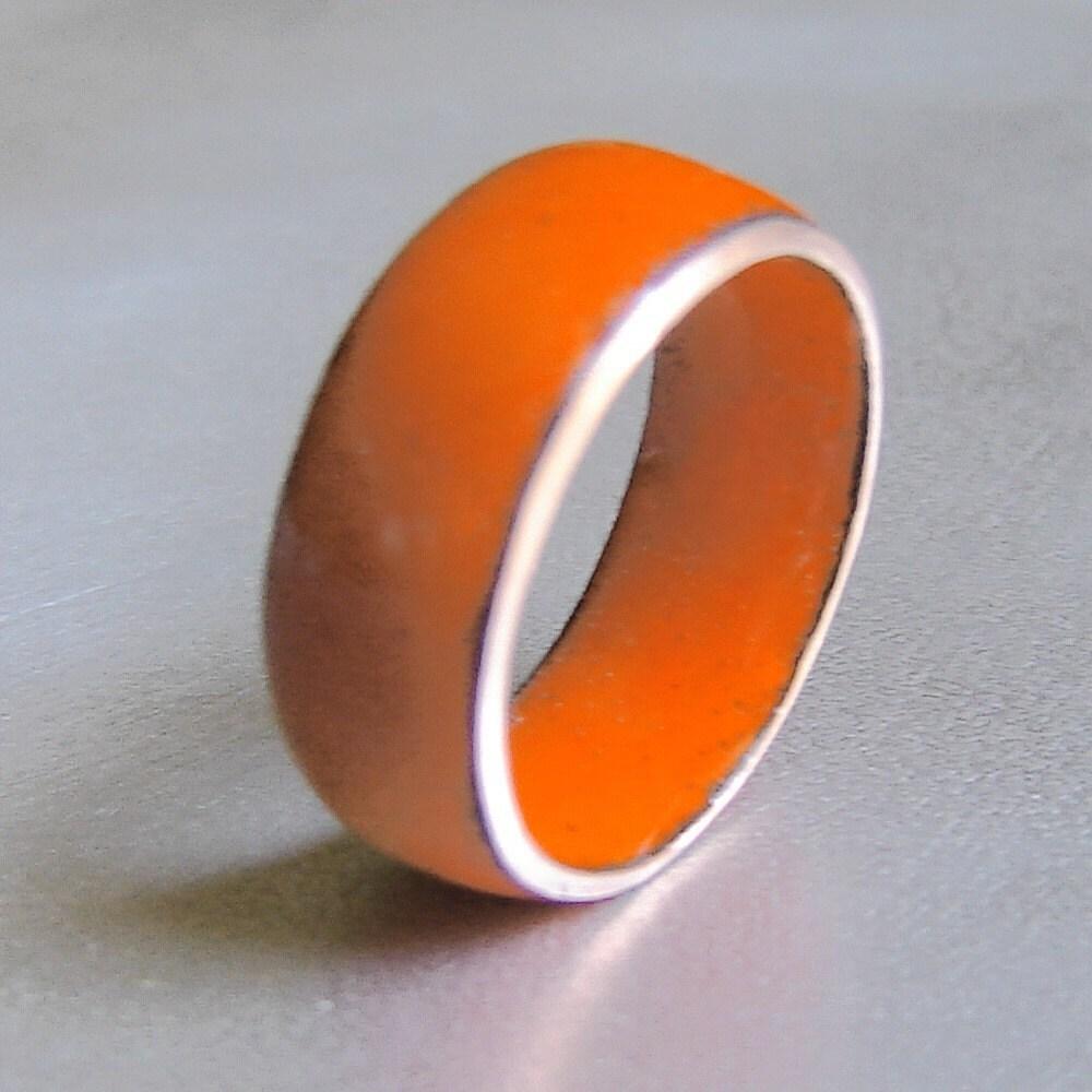 Etsy :: Orangelicious Enamel Ring from etsy.com