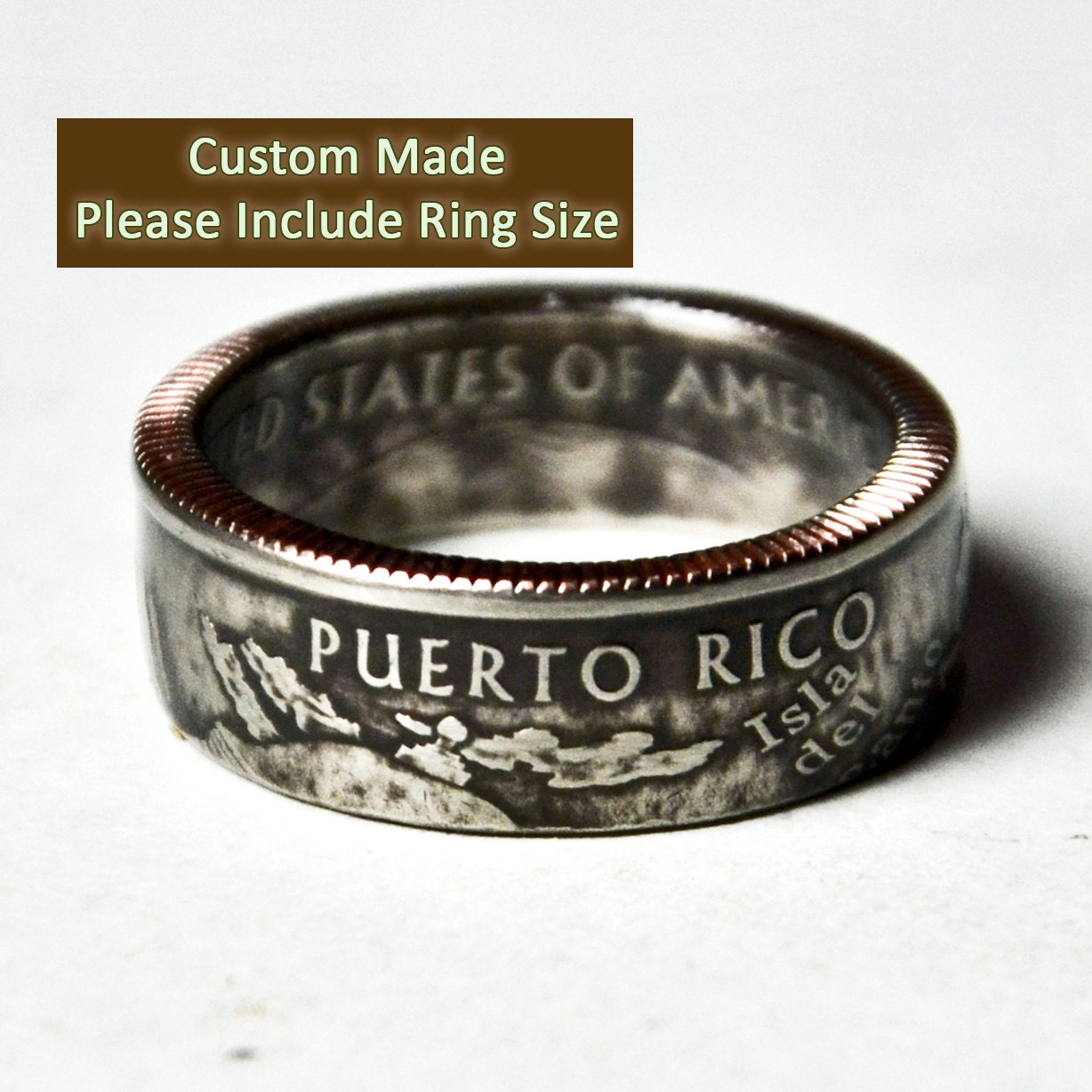 Puerto Rico Coin Ring / Sizes 5-12 (Please include size in purchase notes) - TheRingTree