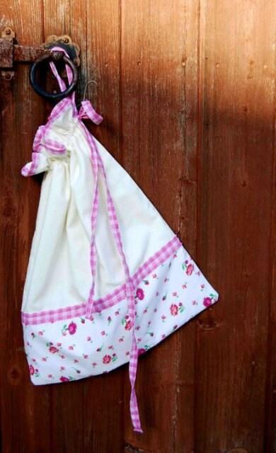 Pink Drawstring bag
