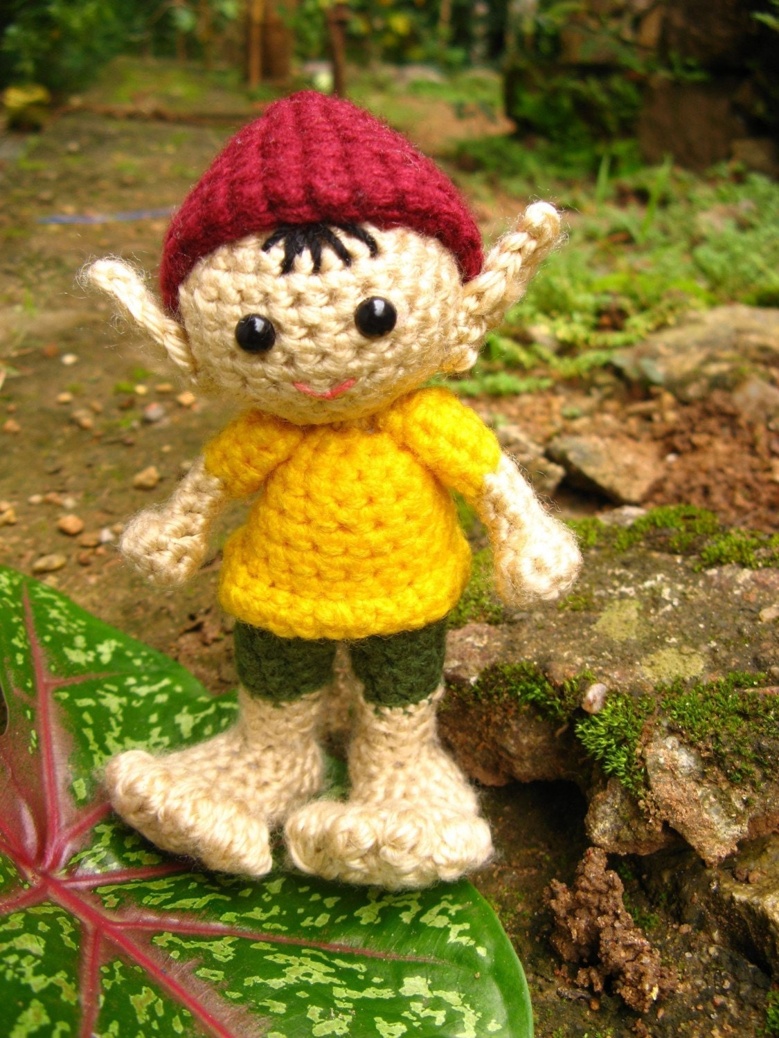 Amigurumi Crochet Pattern PDF - A Little Elf named Big Foot