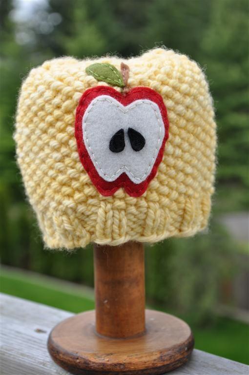 Fruity Hat - Apple, Newborn Sized, Pollen