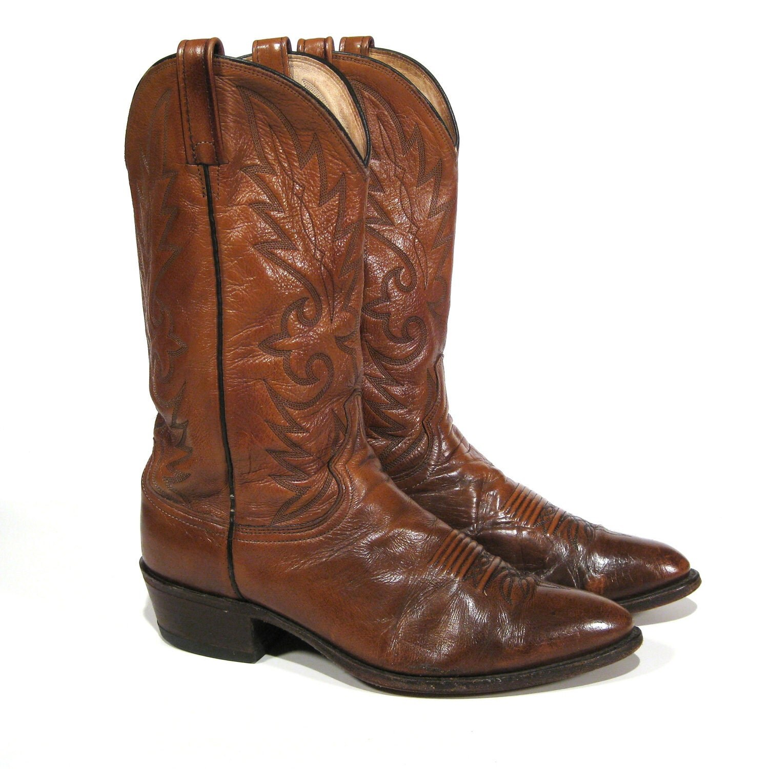 vintage s cowboy boots 11 d dan post by texasbootexchange