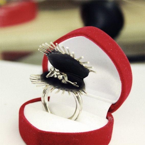 Venus Fly Trap Ring (Sterling Silver)