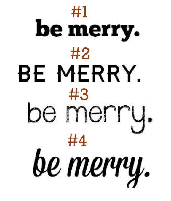 Christmas Vinyl Decal- Be Merry