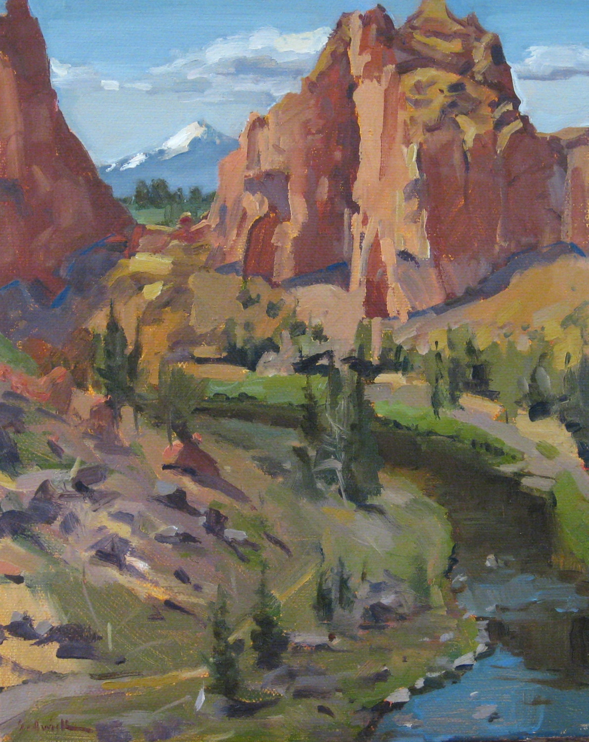 Oregon High Desert Bend Landscape Painting Smith By