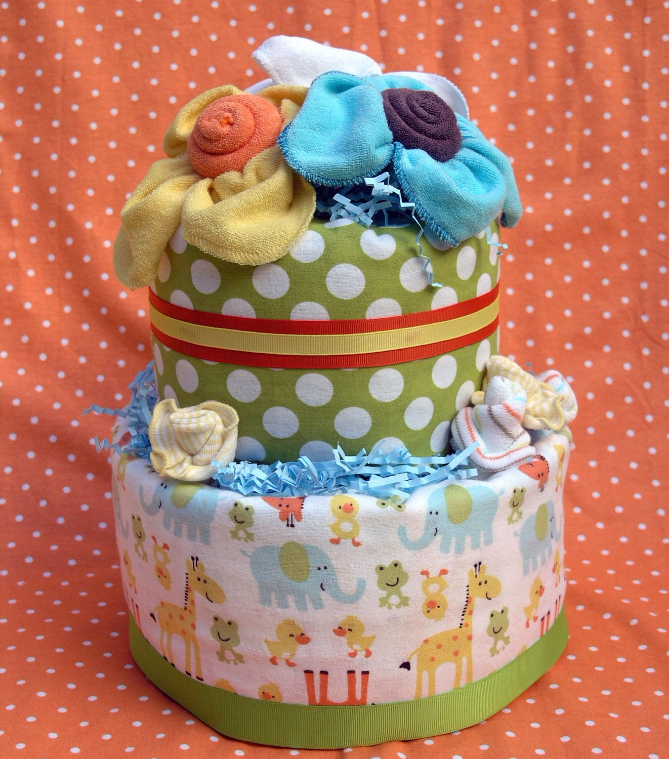 Baby Shower Decorated Cakes: Baby Diaper Decorations