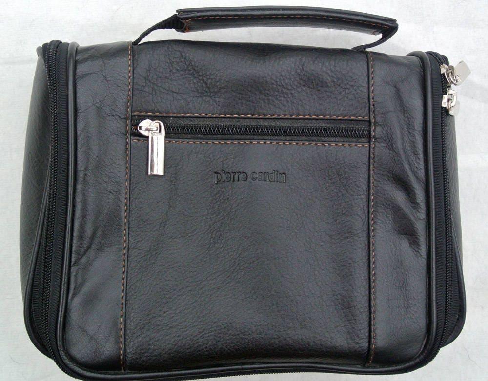 Vintage Pierre Cardin Black and Tan Leather Handbag
