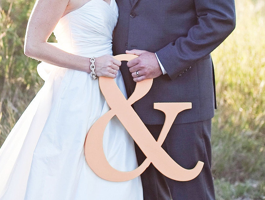 Ampersand Sign - Blush Pink 15 inch Ampersand Sign Photography Prop & Wedding Sign - Wooden Ampersand Sign Wedding Sign Photo Prop - ZCreateDesign