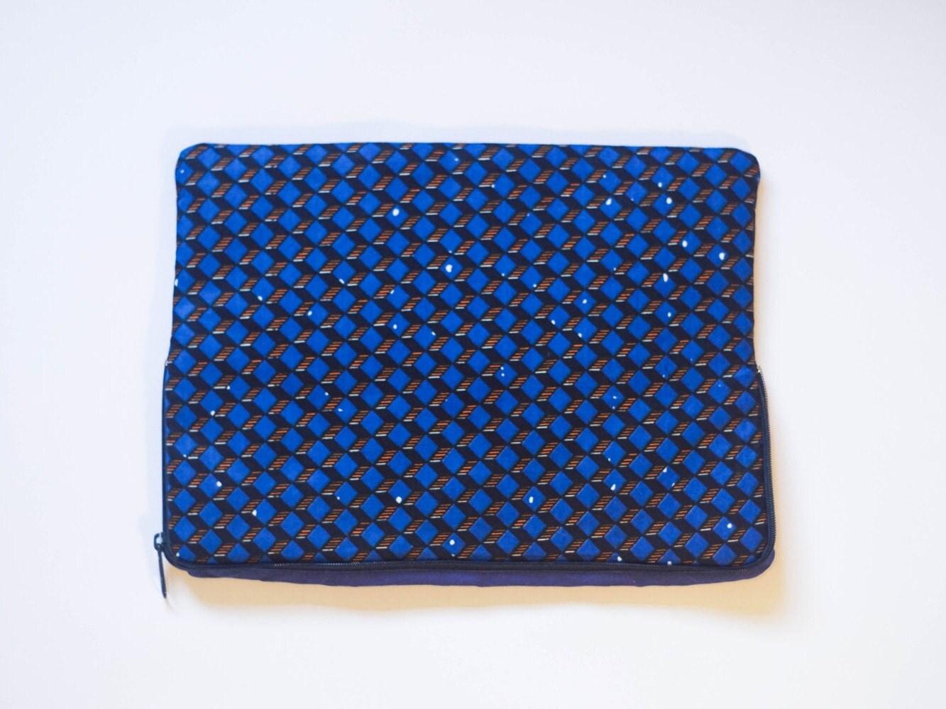 Geometric  Ankara  African Print  MacBook Pro Sleeve  Laptop Sleeve  Laptop Case  Laptop Bag