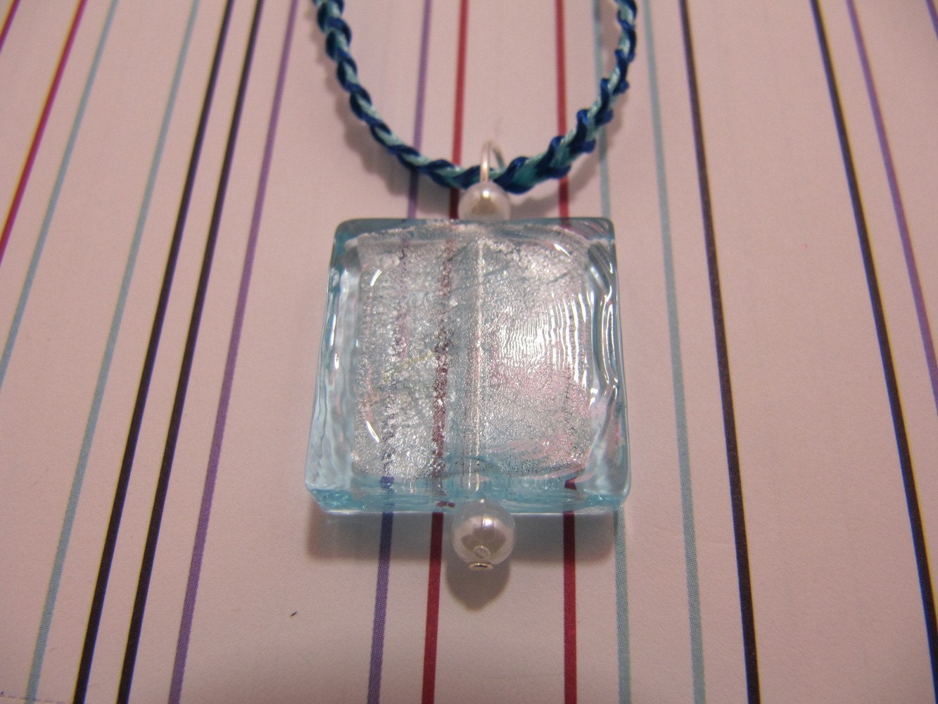 Blue Ribbon Necklace