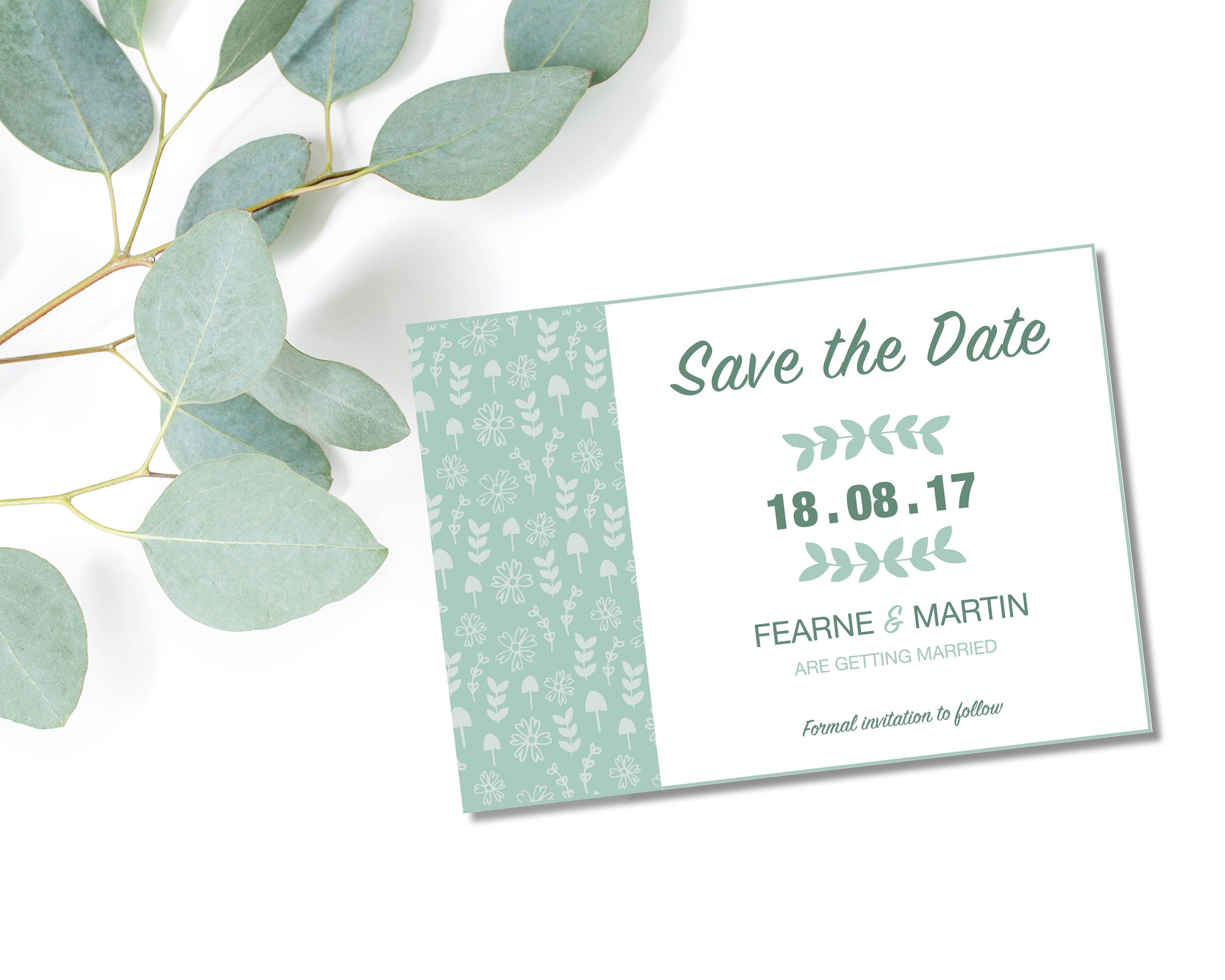 Fearne Save the Date Modern Wedding Save the Date Silk or Magnetic