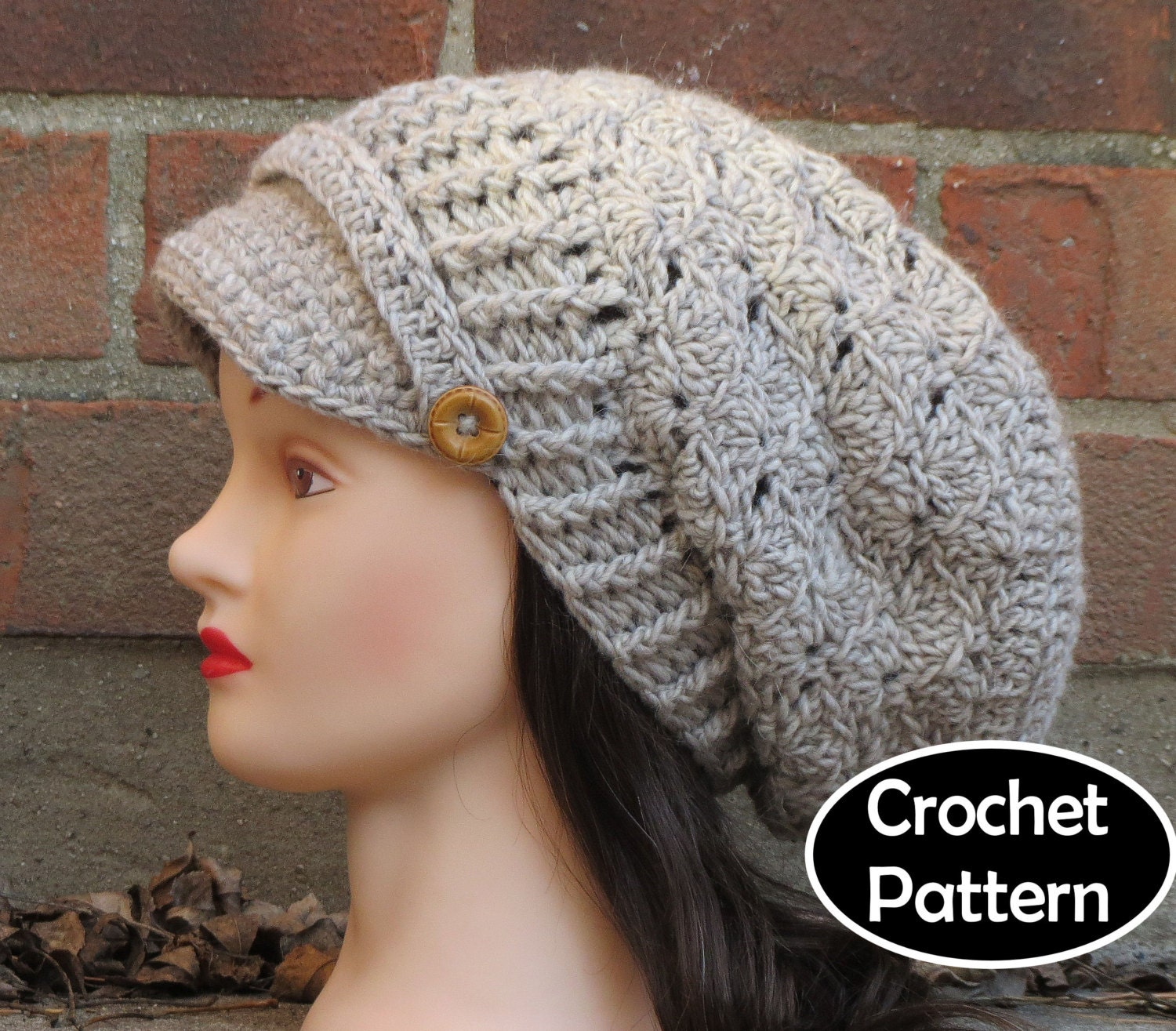Crochet Hat Pattern Download : CROCHET HAT PATTERN Instant Download Pdf Hallie by ...