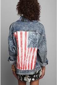American Flag Jean Jacket