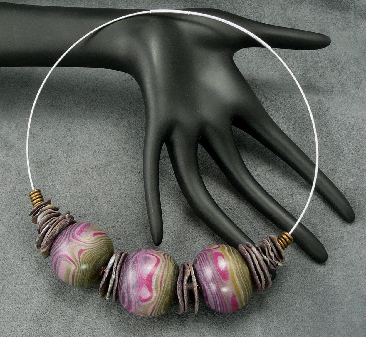 Beads and Discs Necklace