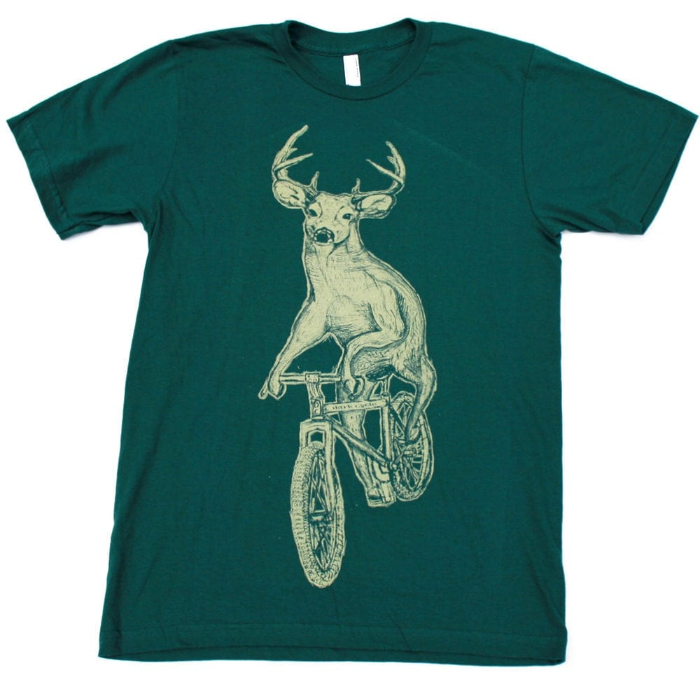 Bicycle T Shirt American Apparel Screen Print By