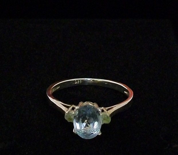 Tranquility Sterling Silver Topaz and Peridot Ring