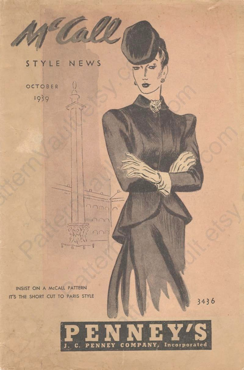McCall Style News for October 1939