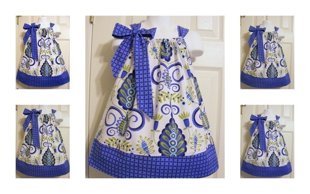 Custom Made Pillowcase Dress-0-8 years old-Michael Miller Fabric-Large Whimsy Doozie