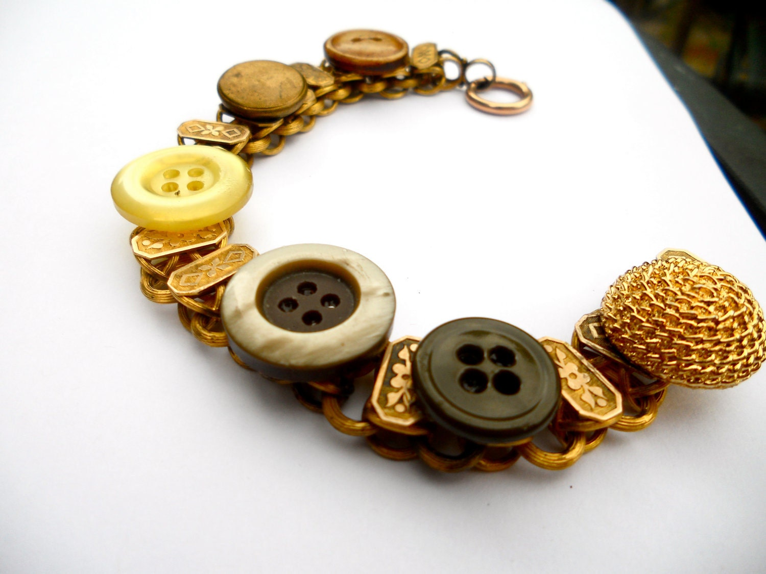Golden Button Bracelet