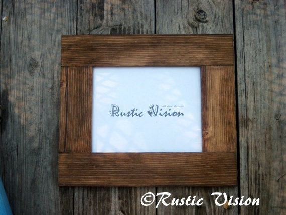 8 x 10 rustic frame made of reclaimed wood by rusticvision on etsy. Black Bedroom Furniture Sets. Home Design Ideas
