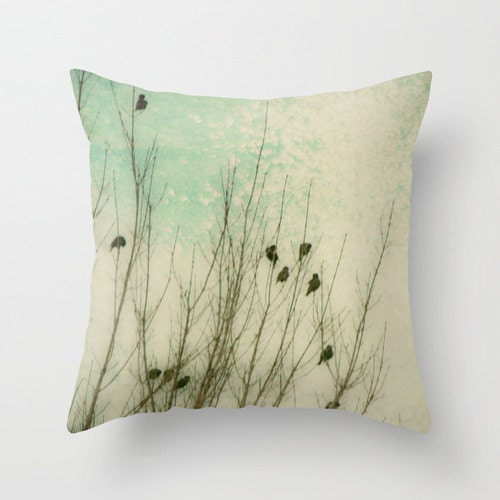 Throw Pillows Textured : Throw Pillow Cover Textured Birds Braving by SylviaCPhotography