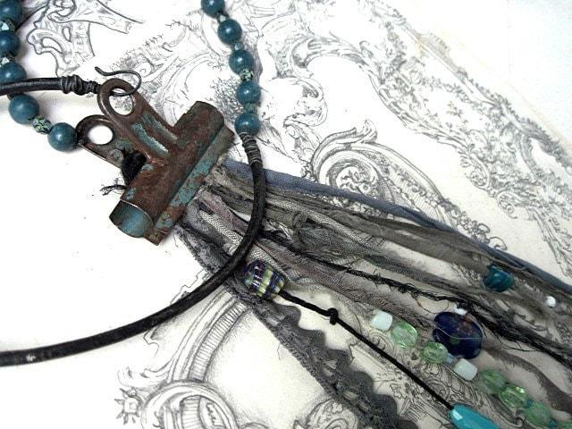 Sale. Binder Clip Interchangeable Assemblage Neckpiece.