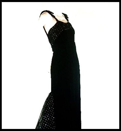 VALENTINO Night Black Velvet Evening Gown XS S