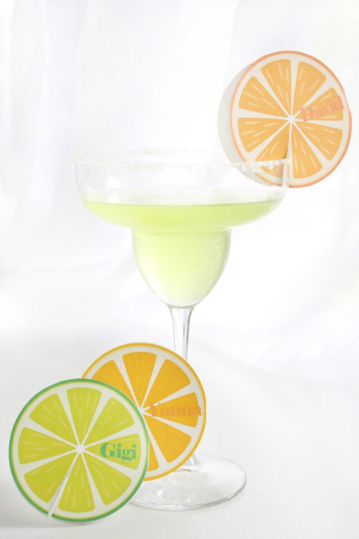 Festive Fiesta Citrus Slice Place Card Printables EDITABLE - ThePoshEvent