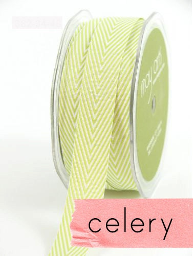 chevron twill tape,celery, 2 yards
