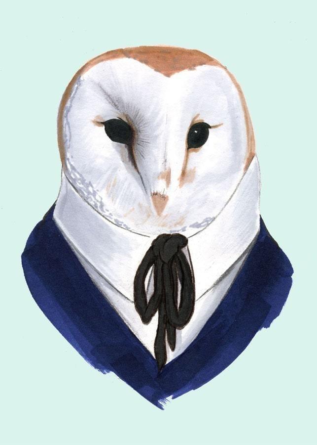 Barn Owl print 5x7