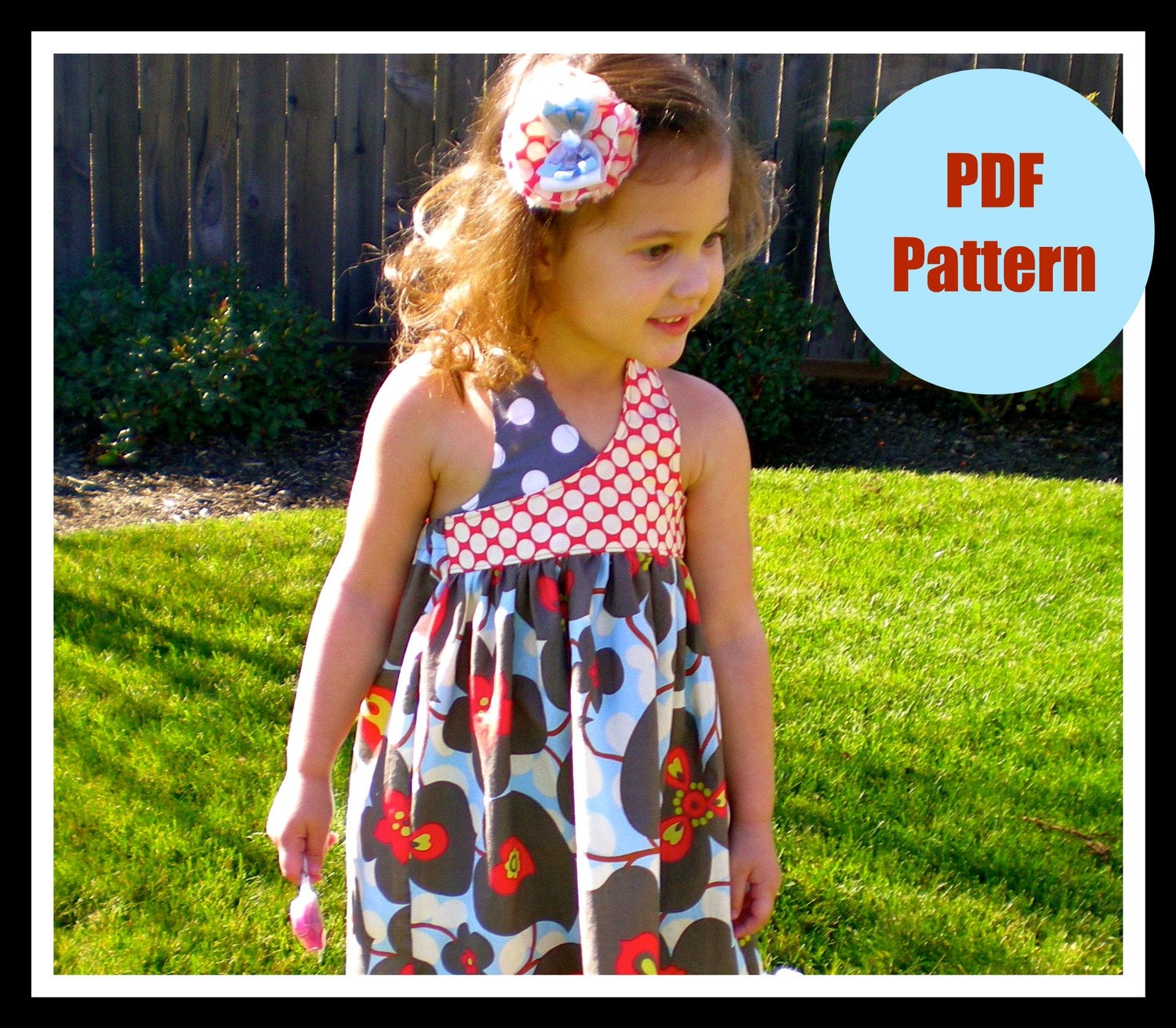 Dress Pattern, Girls, Baby, Easy, PDF Sewing Pattern...The Criss Cross Avery Dress Pattern 12m-5T