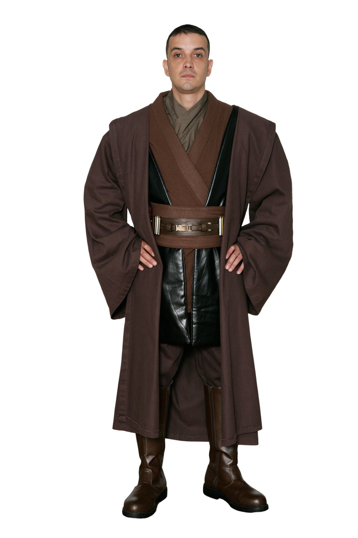 Star Wars Anakin Skywalker Replica Jedi Costume Body Tunic with Replica Dark Brown Jedi Robe  JR 1436