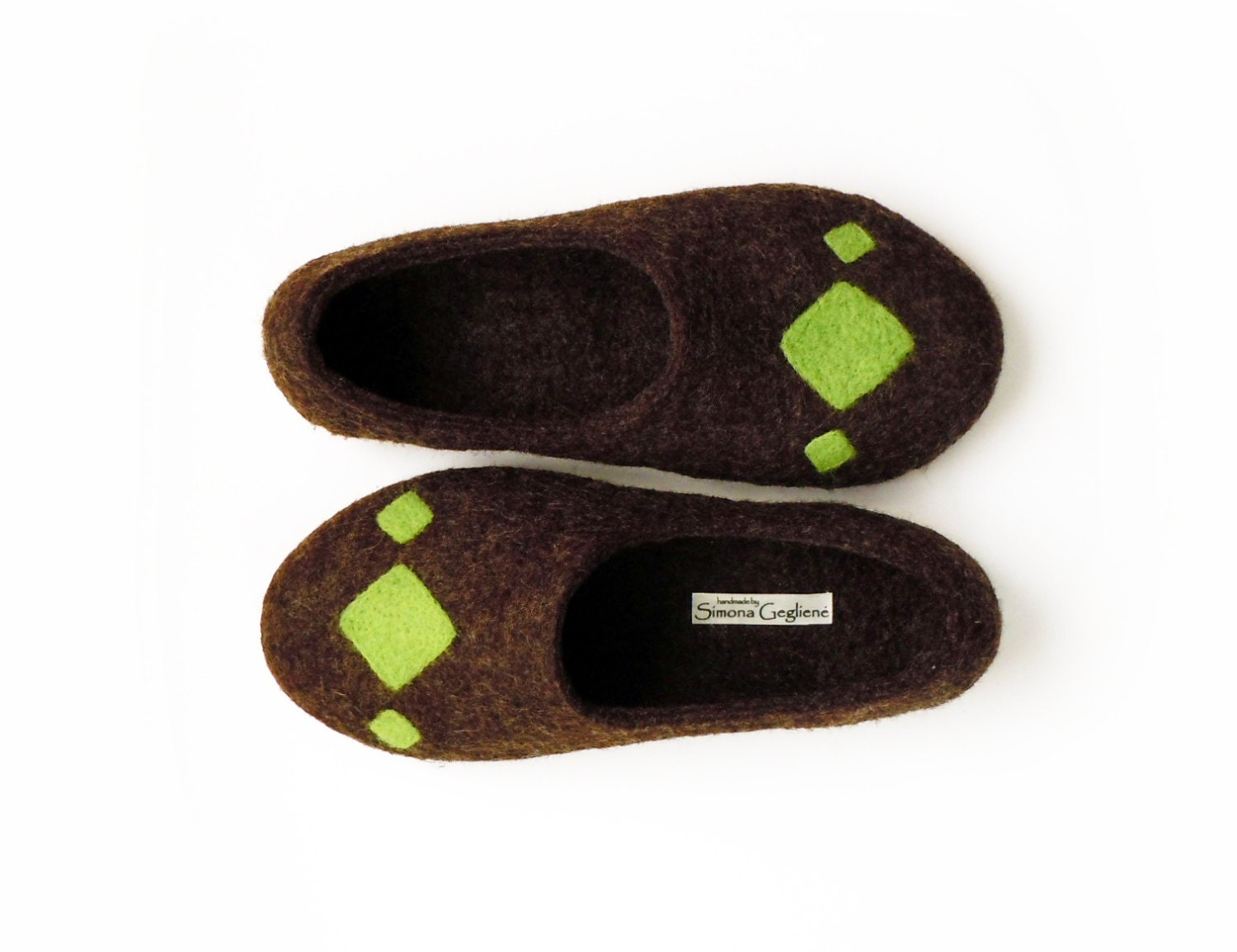 Felted slippers. Rhombus - SimplicityOfFelt