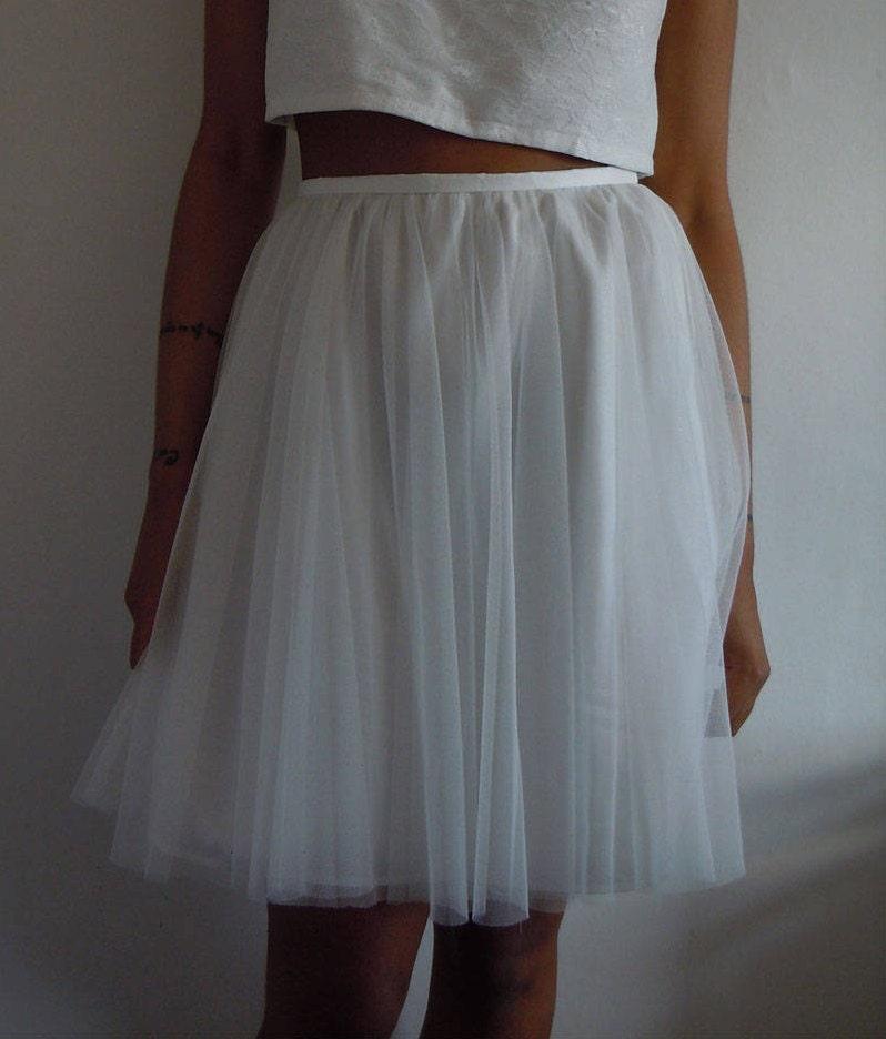 Hand made tulle skirt White tulle skirt Ivory tulle skirt Ivory tutu skirt Soft tulle skirt Romantic Style Skirt