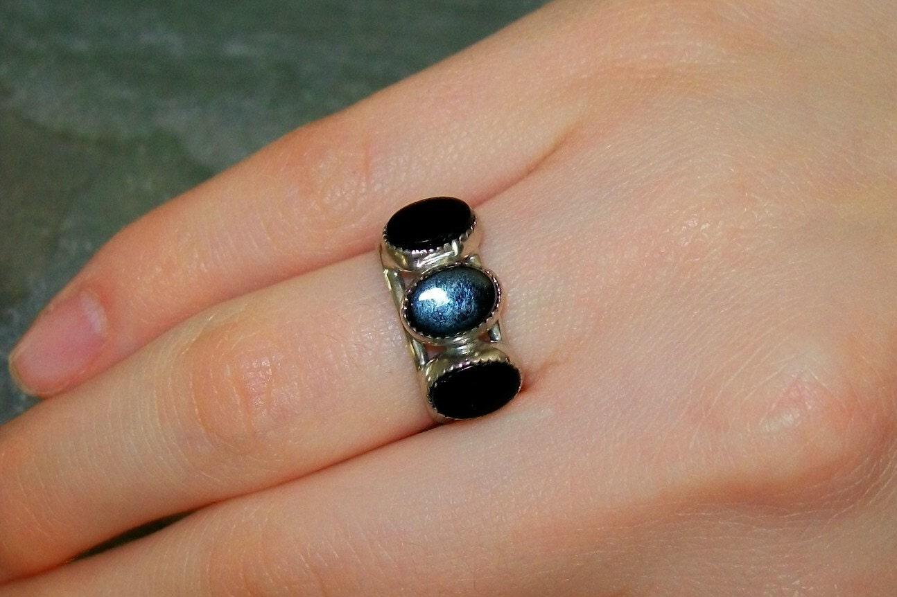 Vintage Black Onyx Ring