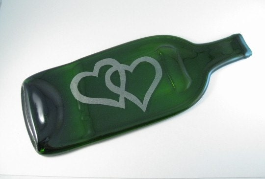Recycled Bottle Cheese Tray - Hearts