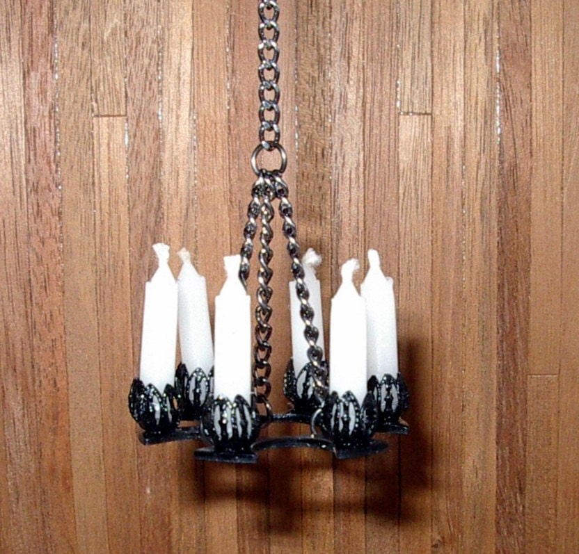 Wrought Iron Chandelier Medieval Dollhouse By CalicoJewels
