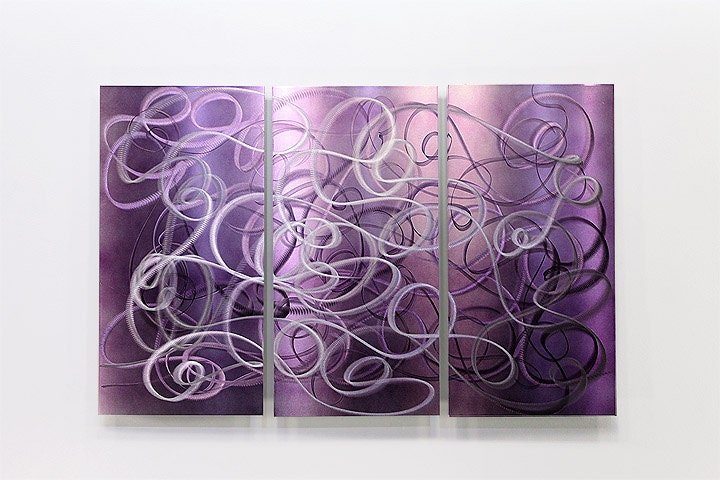 Purple contemporary metal abstract wall art by statements2000 for International wall decor