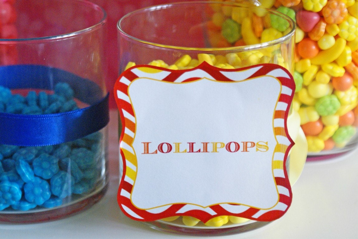candy buffet table. -candy-uffet-table-tags